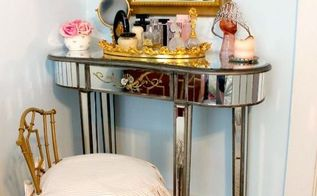 vanity chair makeover, bedroom ideas, home decor, painted furniture