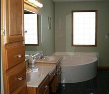 q should i put wood floors in my master bath, bathroom ideas, flooring, tile flooring, woodworking projects
