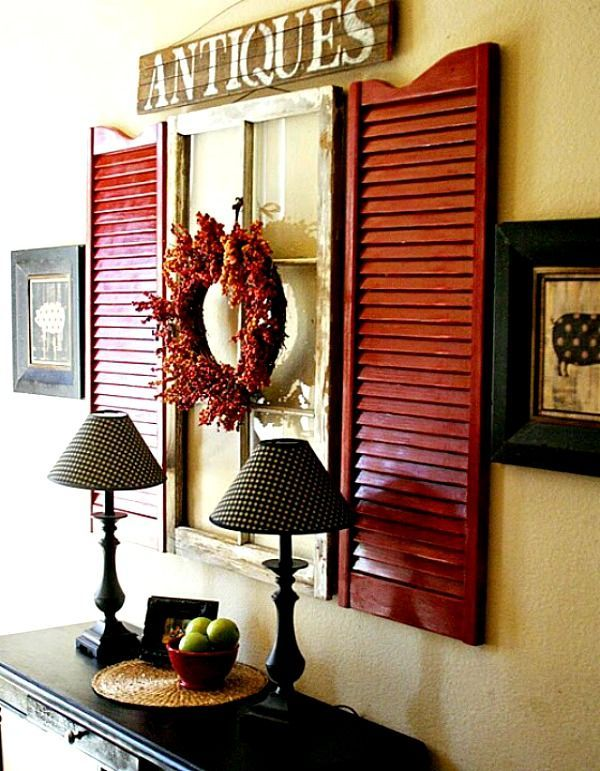 today i m sharing some great decorating ideas for shutters home decor living room ideas - Shutter Designs Ideas