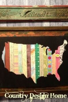 diy usa quilt map art, crafts, decoupage