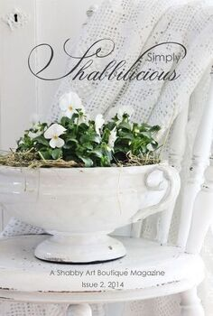 free simply shabbilicious magazine, home decor, shabby chic