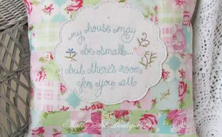 shabby faux patchwork, crafts, home decor
