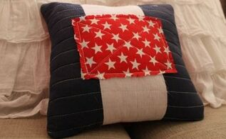 pottery barn inspired americana pillow, crafts