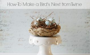 easy to make twine and glue nest, crafts