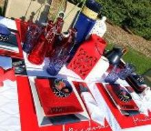 red white and blue patriotic tablescape memorialday, outdoor living, patriotic decor ideas, seasonal holiday decor