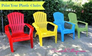 paint your plastic chairs, outdoor furniture, outdoor living, painted furniture