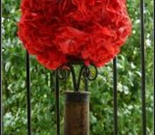 coffee filter flower topiary, crafts, home decor