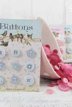 make your own button cards, crafts