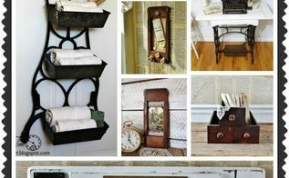 salvaged antique sewing machine projects, home decor, painted furniture, repurposing upcycling, rustic furniture