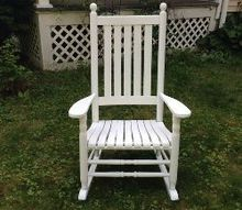 diy rocking chair makeover, outdoor furniture, painted furniture