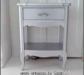 Good Furniture Makeover Silver Metallic End Tables, Painted Furniture