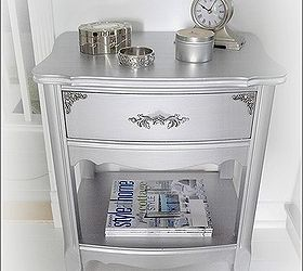 High Quality Furniture Makeover Silver Metallic End Tables, Painted Furniture