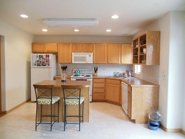 Kitchen Reveal - Dark Cabinets, Light Counters | Hometalk