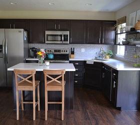 Kitchen Reveal Dark Cabinets Light Counters, Countertops, Home Improvement, Kitchen  Backsplash, Kitchen