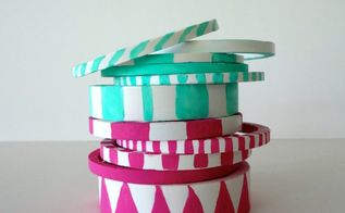 turn your left over pvc piping into gorgeous bangle bracelets, crafts, repurposing upcycling
