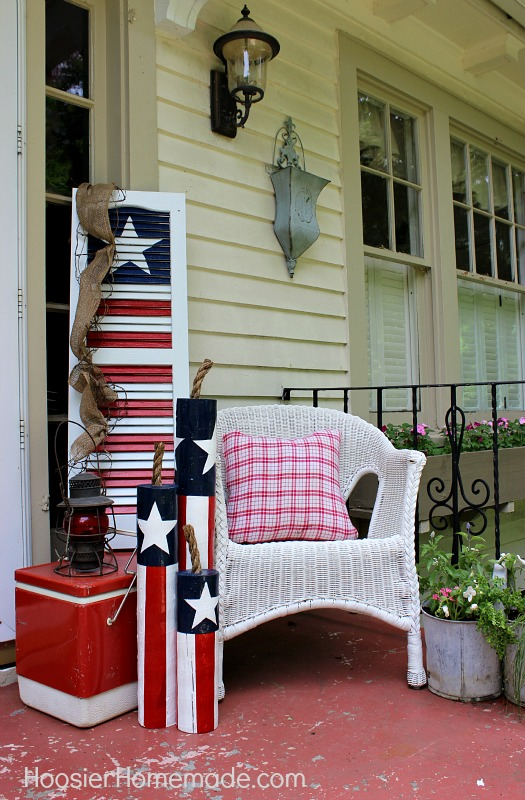 turn an old shutter into a fun 4th of july decoration hometalk. Black Bedroom Furniture Sets. Home Design Ideas