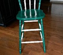 rustic patriotic stool makeover, painted furniture, patriotic decor ideas, rustic furniture, seasonal holiday decor