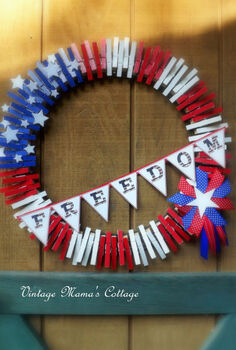 patriotic freedom wreath, crafts, patriotic decor ideas, seasonal holiday decor, wreaths