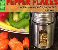 diy pepper flakes garden to table, homesteading