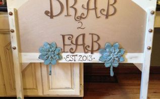 re purposed twin headboard, painted furniture, repurposing upcycling, shabby chic