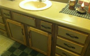 painted bathroom countertop before and after, bathroom ideas, countertops, painting
