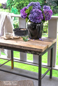 an instant solid wood 2x4 tabletop that lured me away from my work, outdoor furniture, outdoor living, painted furniture, patio, rustic furniture