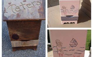 repurposed taters bin, repurposing upcycling, storage ideas