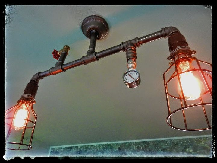 Steampunk Lighting In My Home Will Be Adding More As Installed - Steampunk living room