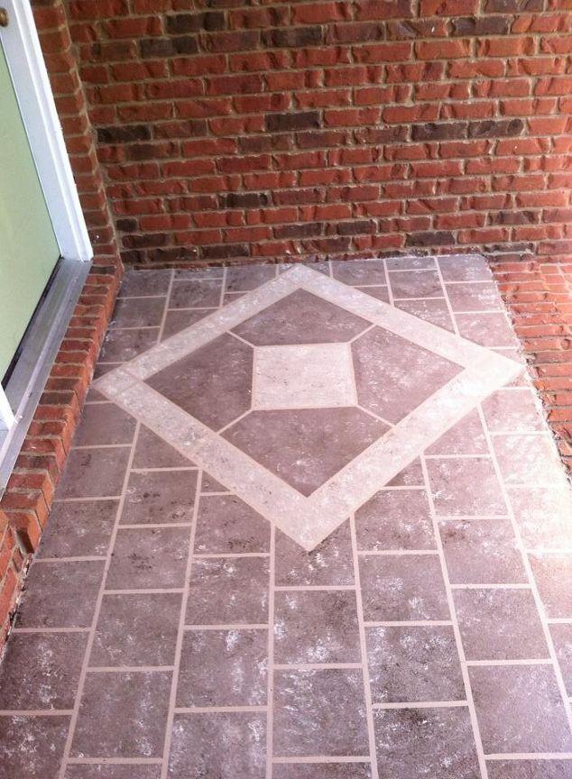 front porch faux tile hometalk