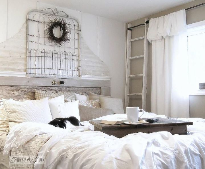 From a burn pile mess to a white bedroom sanctuary for for Home decor for less