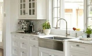 q farmhouse sink stainless steel or cast iron, home decor, kitchen design, Stainless steel