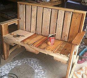 Pallet Wood Bench  Hometalk