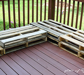 Diy Pallet Furniture Patio Makeover, Diy, Outdoor Furniture, Outdoor  Living, Painted Furniture