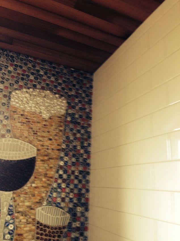 Beer Bottle Cap Wall Floor Bathroom Ideas Diy Flooring Repurposing Upcycling