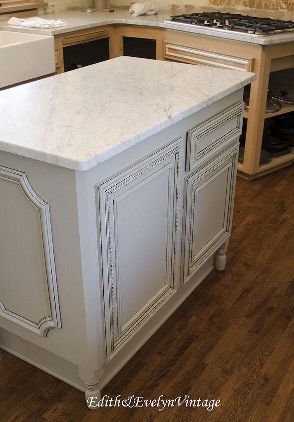 Updating a 1970 39 s kitchen hometalk - Kitchen island decorative trim ...