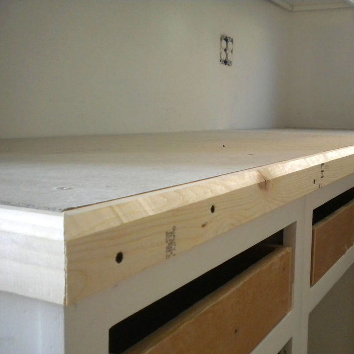 Easy Diy Concrete Counters The Missing Link Hometalk