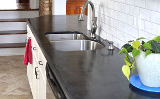 easy diy concrete counters, concrete masonry, concrete countertops, countertops, diy, how to, kitchen design