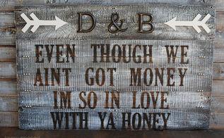 diy rustic sign, crafts, pallet