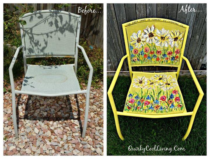 Painted garden chair art hometalk - Exterior furniture paint gallery ...