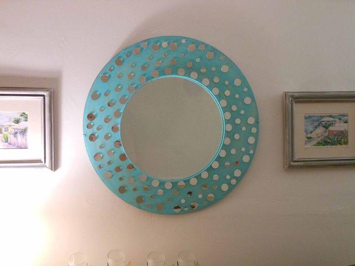 Pinterest inspired mirror redesign hometalk for Decorative crafts mirrors