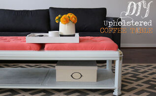 how to upholster a coffee table, home decor, painted furniture, reupholster