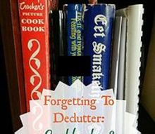 forgetting to declutter cookbooks and recipes, organizing