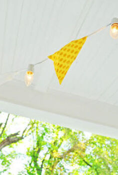 lights banner pendant diy porch, lighting, outdoor living, porches