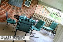 porch colorful makeover patio, decks, outdoor furniture, painted furniture, porches