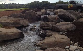 wetland stream and waterfall build, landscape, outdoor living, ponds water features