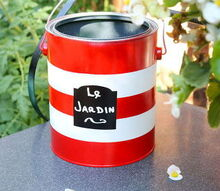 paint can pocket garden hose holder diy, container gardening, gardening, outdoor living, painting, repurposing upcycling