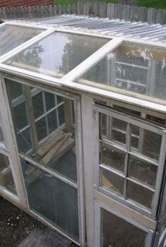 greenhouse upcycle window frames salvage, diy, gardening, repurposing upcycling, windows