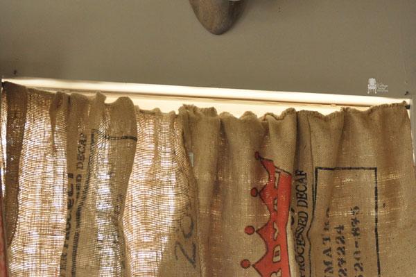 Curtains Ideas burlap sack curtains : Burlap Coffee Sack Curtains DIY | Hometalk