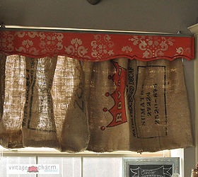 Curtains Burlap Coffee Sack Diy, Home Decor, Repurposing Upcycling, Window  Treatments