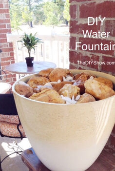 diy tranquil water fountain, diy, outdoor living, ponds water features